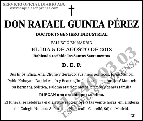 Rafael Guinea Pérez